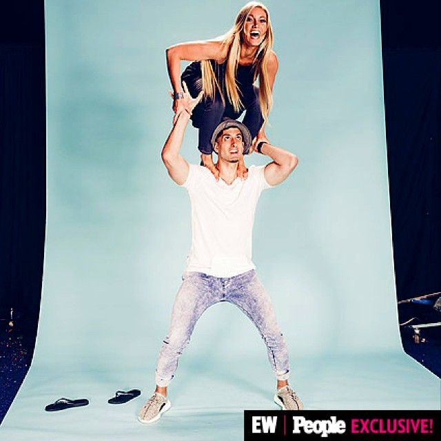 Awesome shot from our photo shoot with @entertainmentweekly and @peoplemag! We were mid Acro-yoga pose, lol