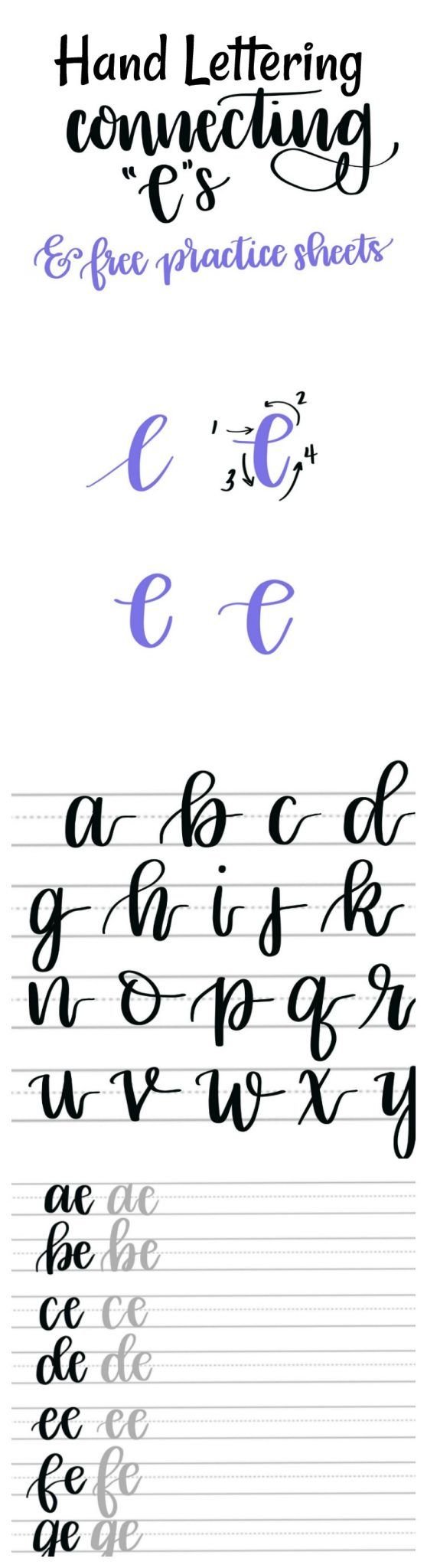 Hand Lettering Connecting E S Tutorial Free Practice Sheets Amy Latta Creations Lettering Hand Lettering Practice Hand Lettering Tutorial [ 2048 x 558 Pixel ]