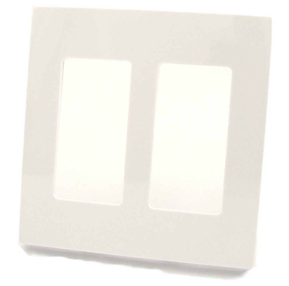 Leviton 915 80309 Sw 80309 Sw 2 Gang Decora Plus Wallplate Screwless Snap On Mount White 1 Pack See This Great In 2020 Leviton Light Accessories Plates On Wall