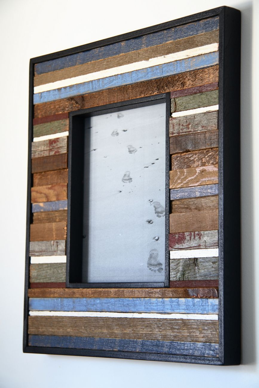8x10 reclaimed wood picture frame barn wood frames