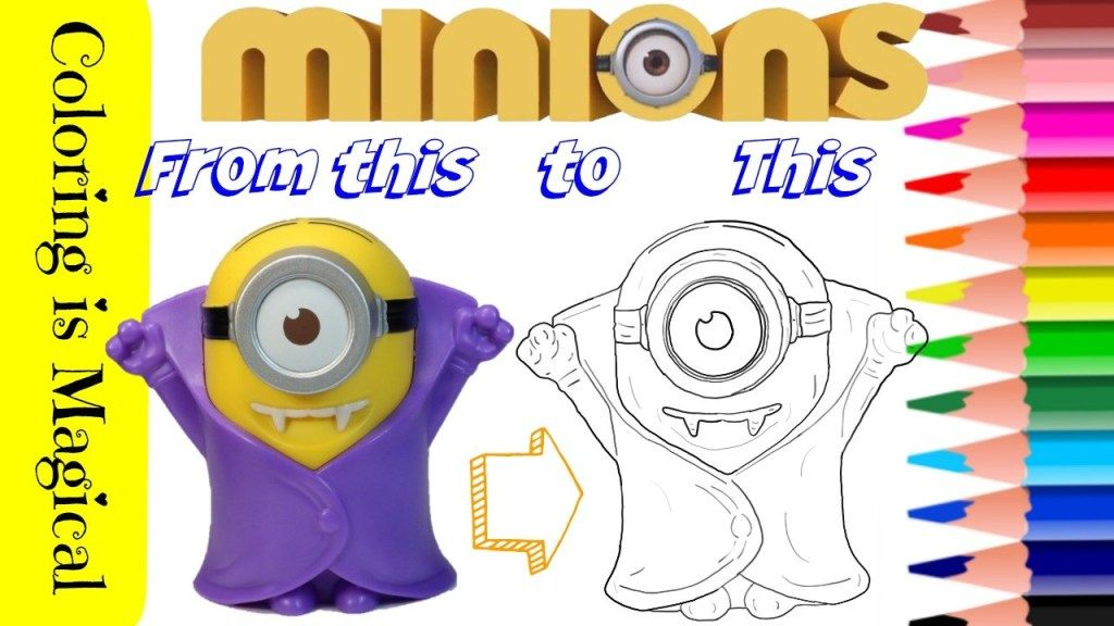 Mcdonald S Happy Meal Toy Coloring Vampire Minion Minions Mcdonalds Vampire Minion Happy Meal Minion