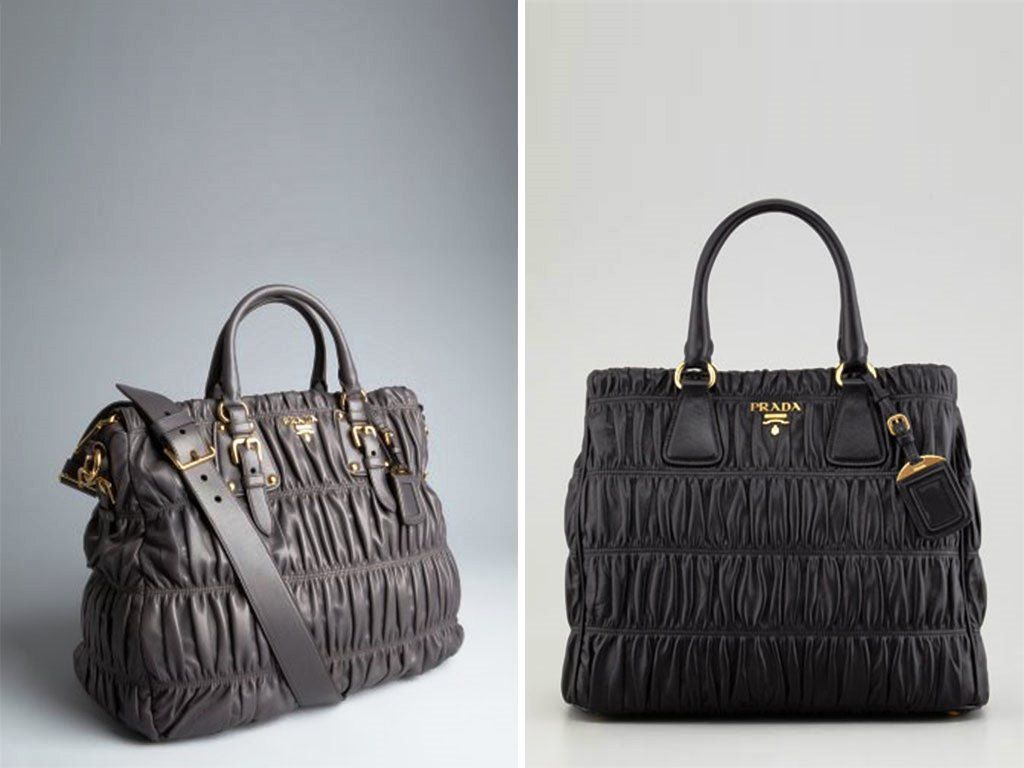 cf681611b335 Prada Graphite Napa Gaufre Convertible and black Tote Bag   gimme ...