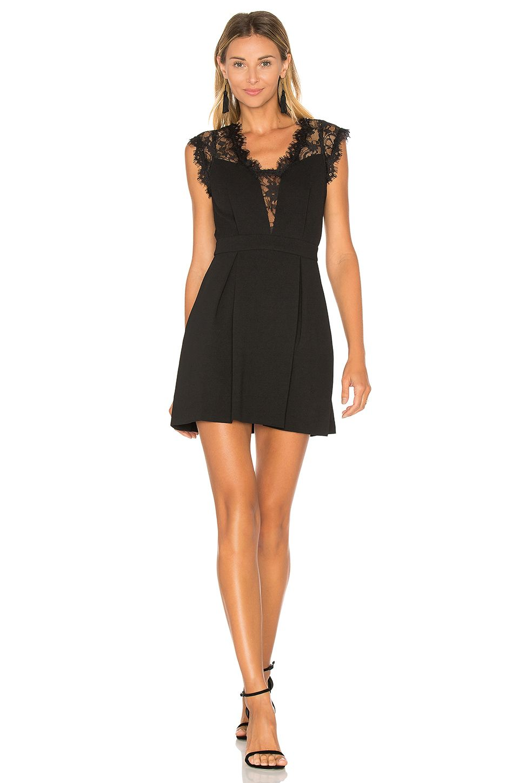 BCBGeneration Lace Inset Dress in Black | Shopping list | Pinterest