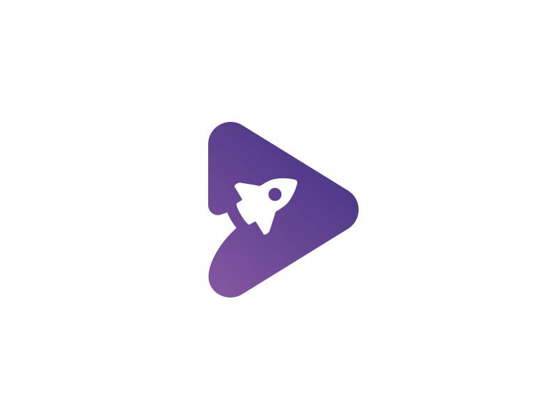 Play Rocket Icon Rockets Logo Logo Design Typography Branding Design Logo
