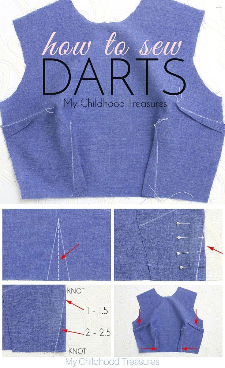 Sewing Darts  Step by Step Easy Tutorial  TREASURIEdarts sew einfach clothes crafts for beginners ideas projects room