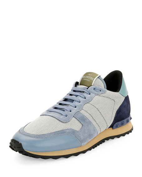 ef976fa7cdd8 VALENTINO Men S Rockrunner Mesh Trainer Sneaker