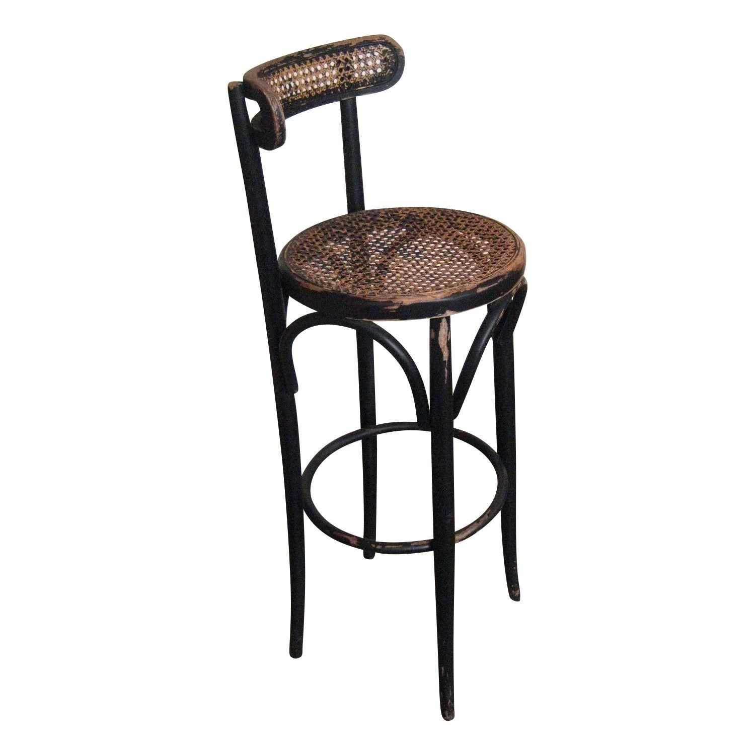A Bistro Classic 1920s Thonet Style Bentwood Bar Stool In Original Aged Black Paint Finished The S Traditional Style Bar Stools Bar Stools Modern Bar Stools