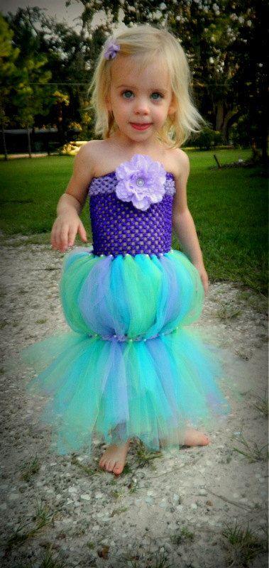 the little mermaid costume outfit tutu girls dress halloween costume ariel - Baby Mermaid Halloween Costume