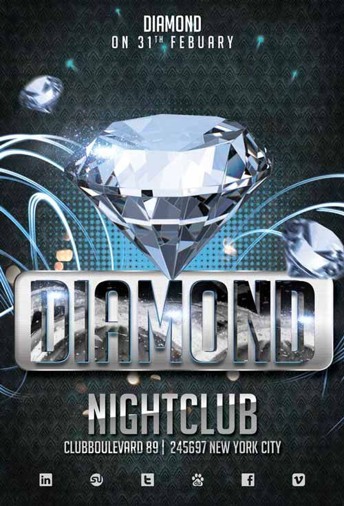 Diamond Club Flyer Template https\/\/noobworx\/store\/diamond - club flyer background