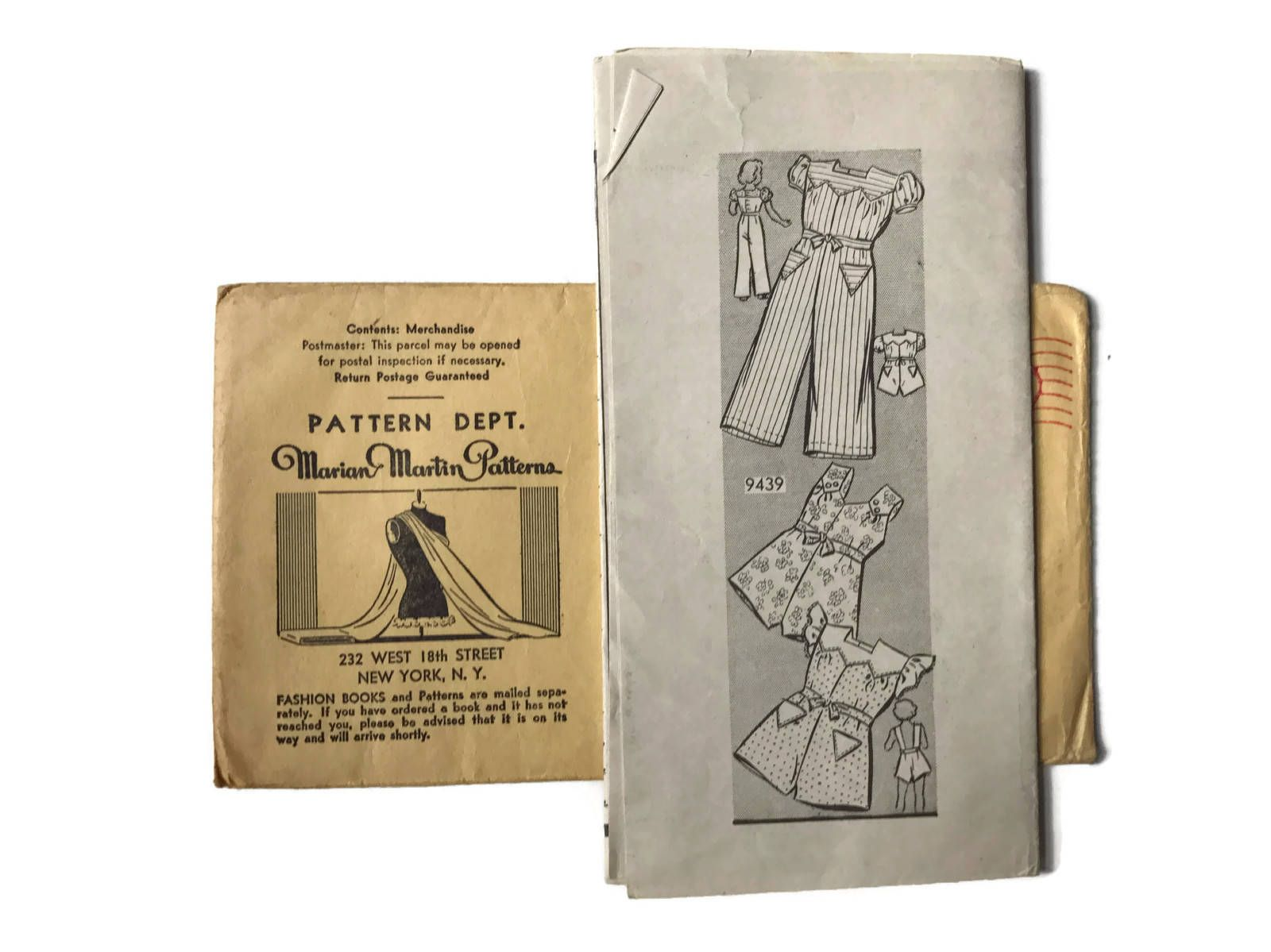 Excited to share the latest addition to my #etsy shop: Vintage Sewing Pattern Marian Martin Patterns 1940s Child Size 2 Overalls Number 9439 Unprinted Pattern Unused Factory Folds Instructions http://etsy.me/2BL21I4 #supplies #sewing #sewingpatttern #mailorderpattern #