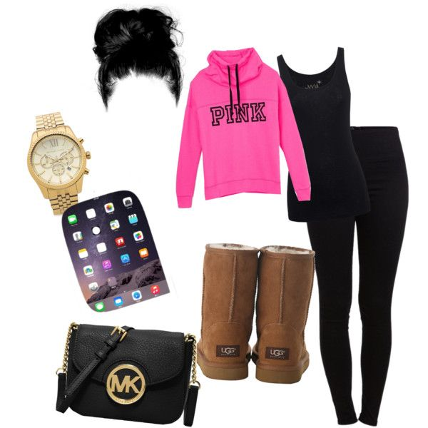 untitled #7 by suaveroyalty on Polyvore featuring polyvore fashion style Juvia Pieces UGG Australia MICHAEL Michael Kors Michael Kors