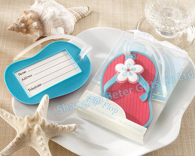 wholesale Wedding Favor 100pcs Flip Flop Luggage Tag in Beach Theme ...