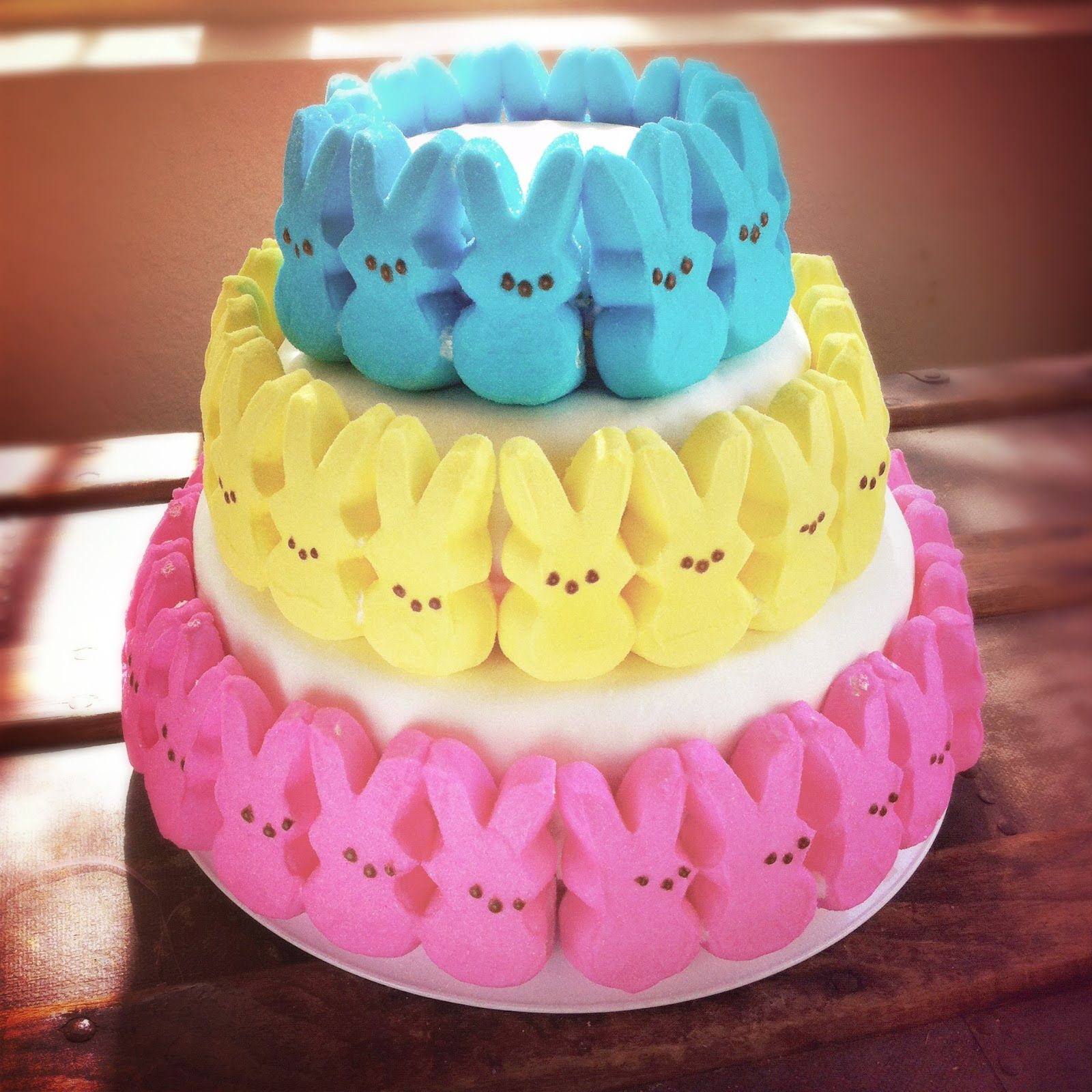 Bunny Peep Cake   Hoppy Easter!   Pinterest   Peeps, Bunny and Cake