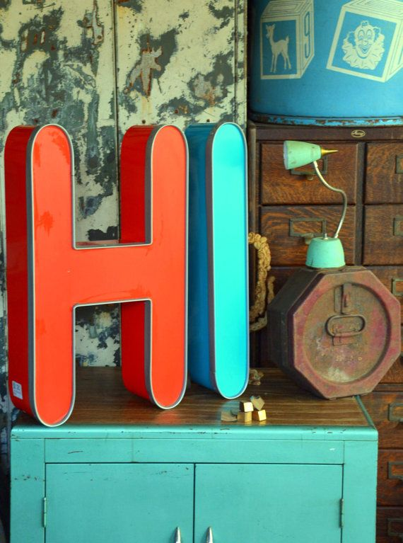 Vintage Marquee Sign Letter Capital I Curved Bright Robins Egg Blue Wall Hanging Initial Neon Channel Industrial Advertising Salvage With Images Vintage Marquee Sign Vintage Marquee Marquee Sign Letters