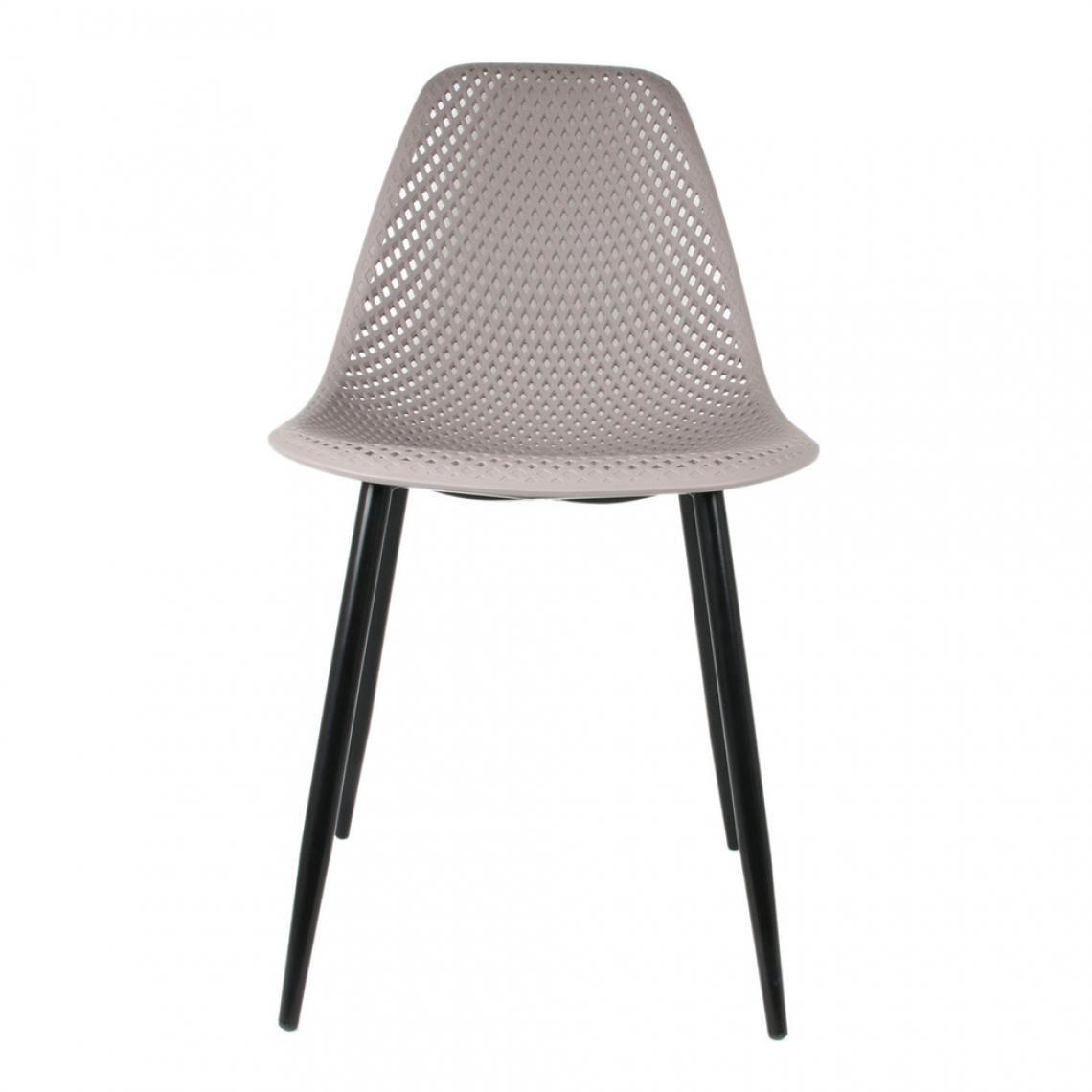 Chaise Interieur Et Exterieur Taupe Langly En 2020 Chaise Moderne Chaise Plastique Chaise