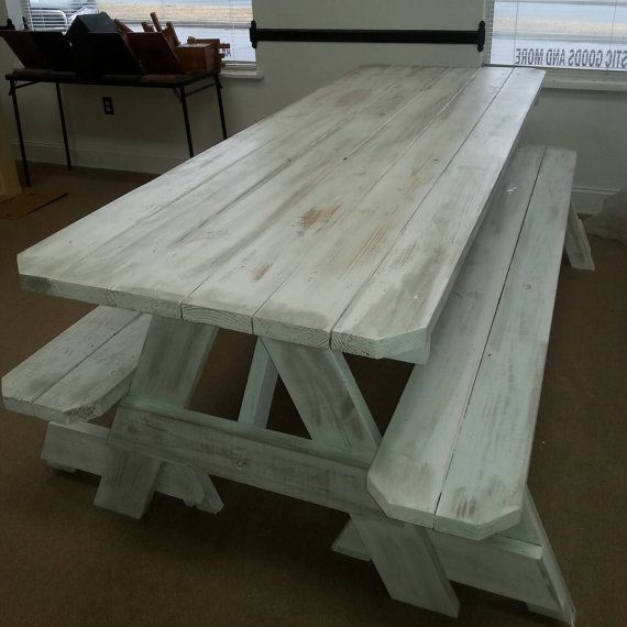 Picnic Tables (Distressed Finish) Custom made to order 2x6 ...