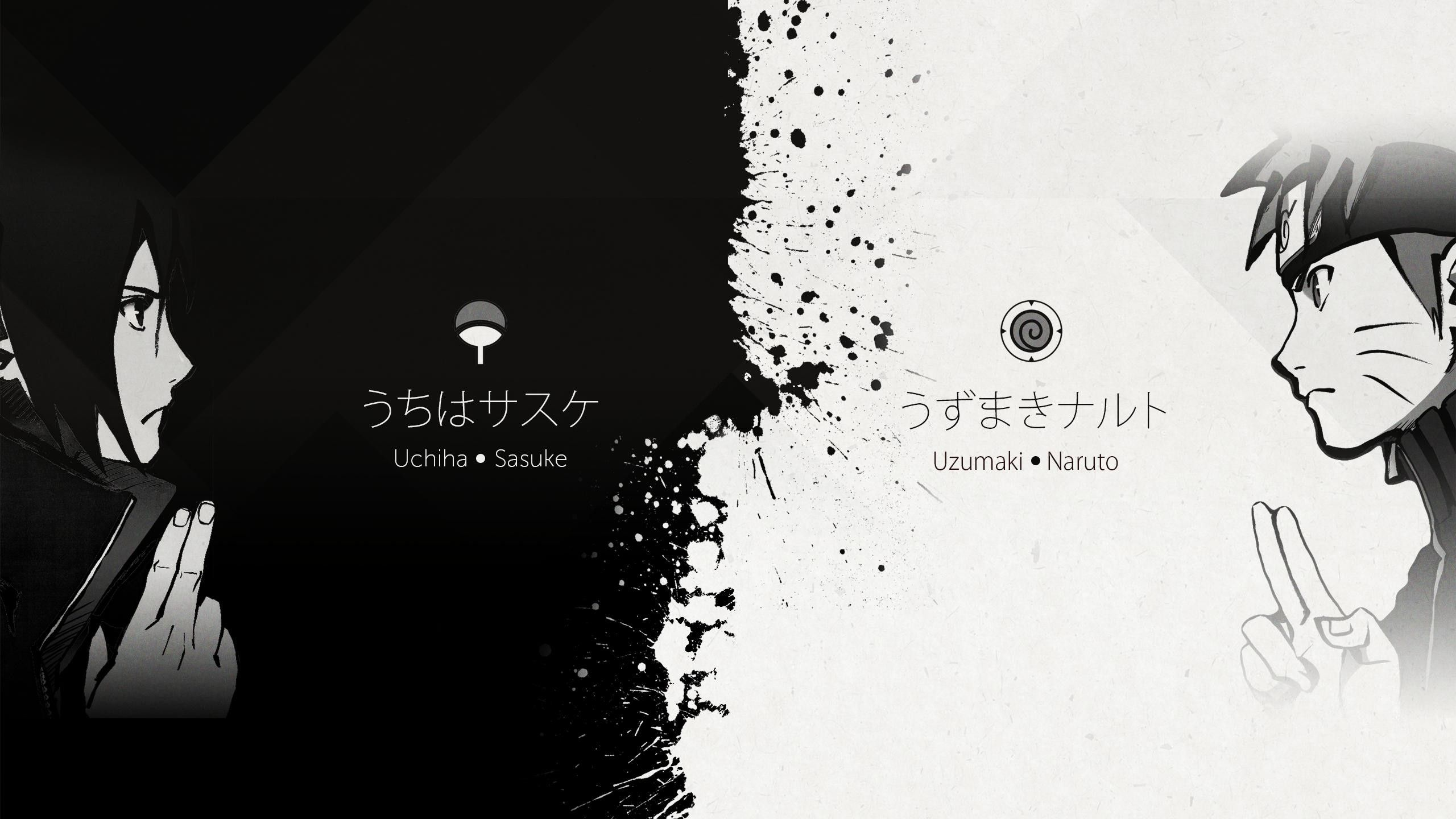 Download wallpapers Sasuke Uchiha, neon lights, manga