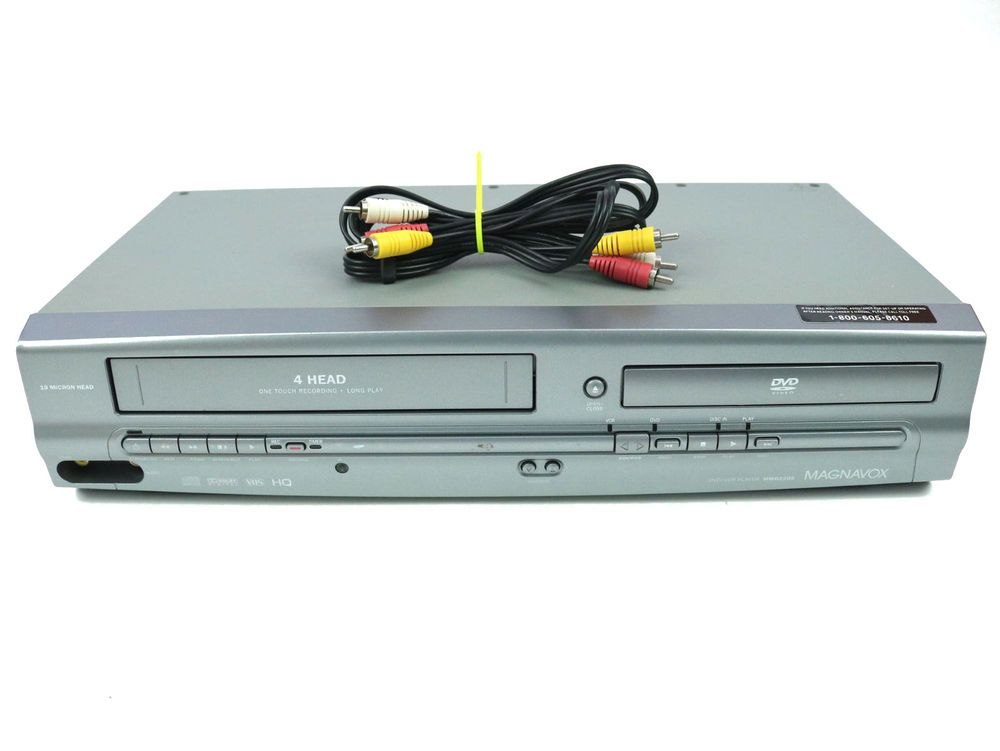 Magnavox MWD2205 DVD Player VCR Combo VHS Recorder Video - AV Cable