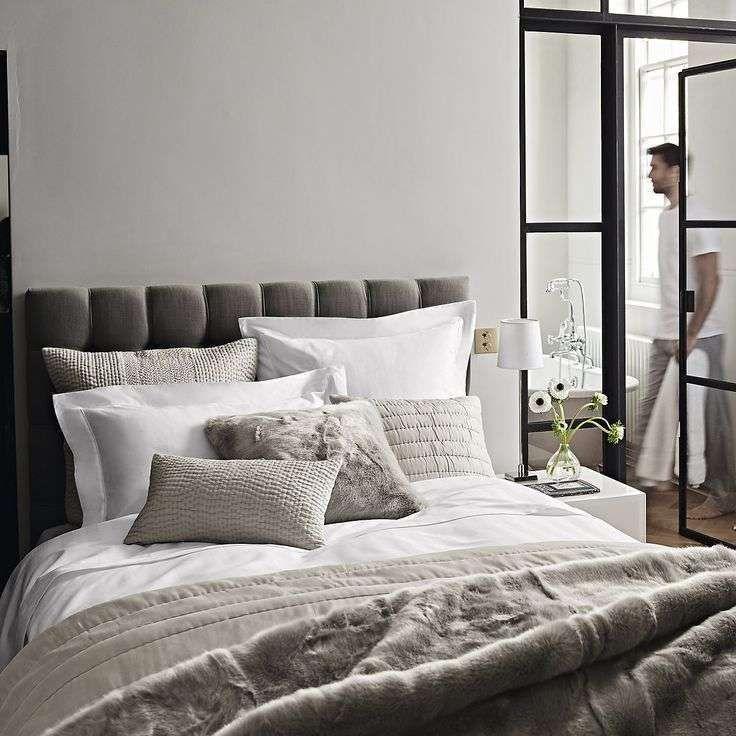 Idee camera da letto color tortora - Tessuti color tortora camera da ...