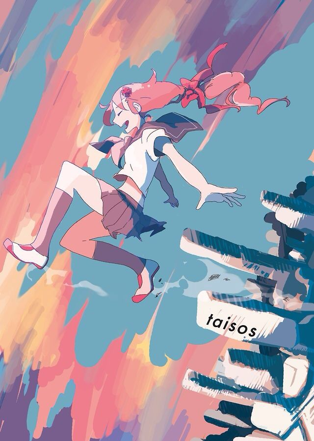 Anime Art Anime Girl Falling Or Flying In The Air Art Styles In