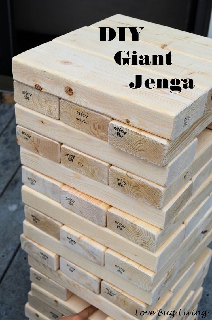 50 Backyard Hacks Giant Jenga Game Giant Jenga Diy Games