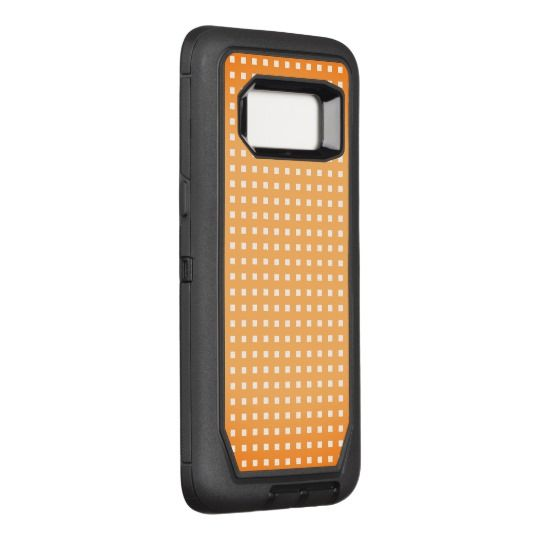 Orange-Sherbet-Checks_Unisex-Apple_Samsung OtterBox Defender Samsung Galaxy S8 Case