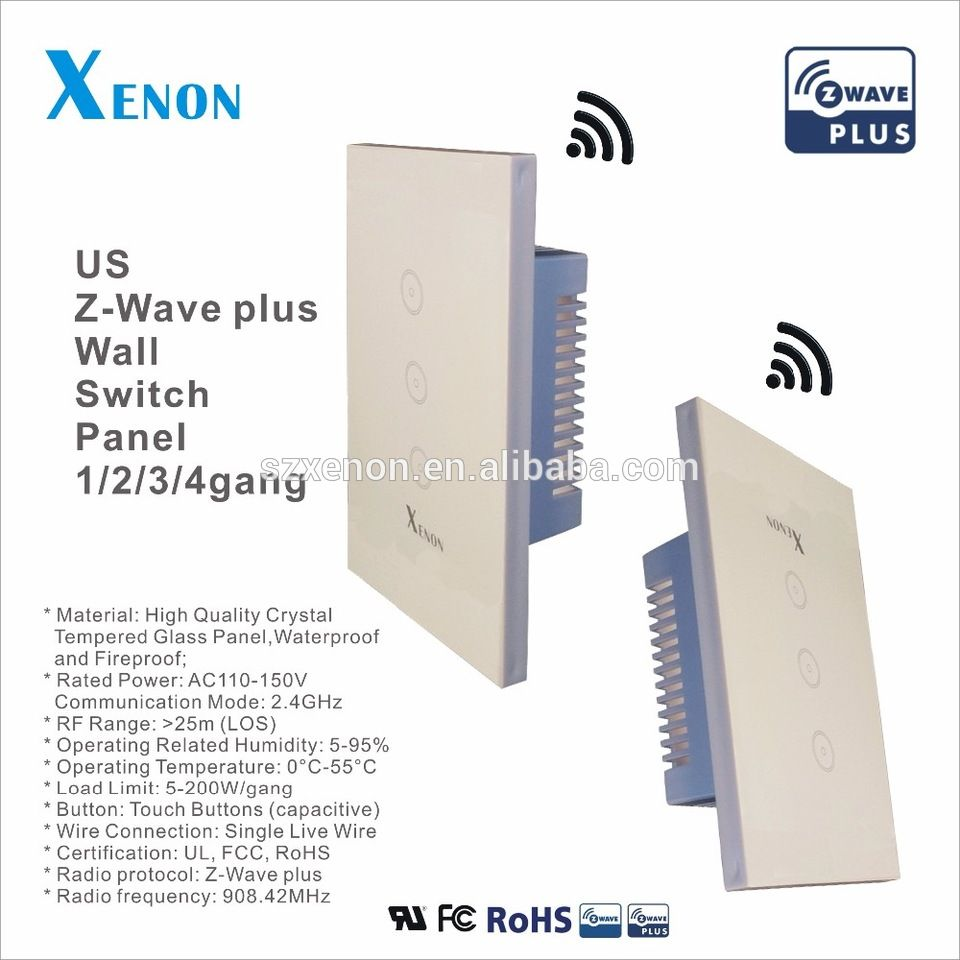 Z Wave Wall Switch Wifi Light Socket Touch Screen Controller How To Wire A From Plug Wireless Box Relay Smart Home Us Soft