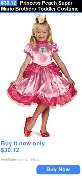 Halloween Costumes Kids Princess Peach Super Mario Brothers Toddler Costume BUY IT NOW ONLY  sc 1 st  Pinterest & Halloween Costumes Kids: Princess Peach Super Mario Brothers Toddler ...