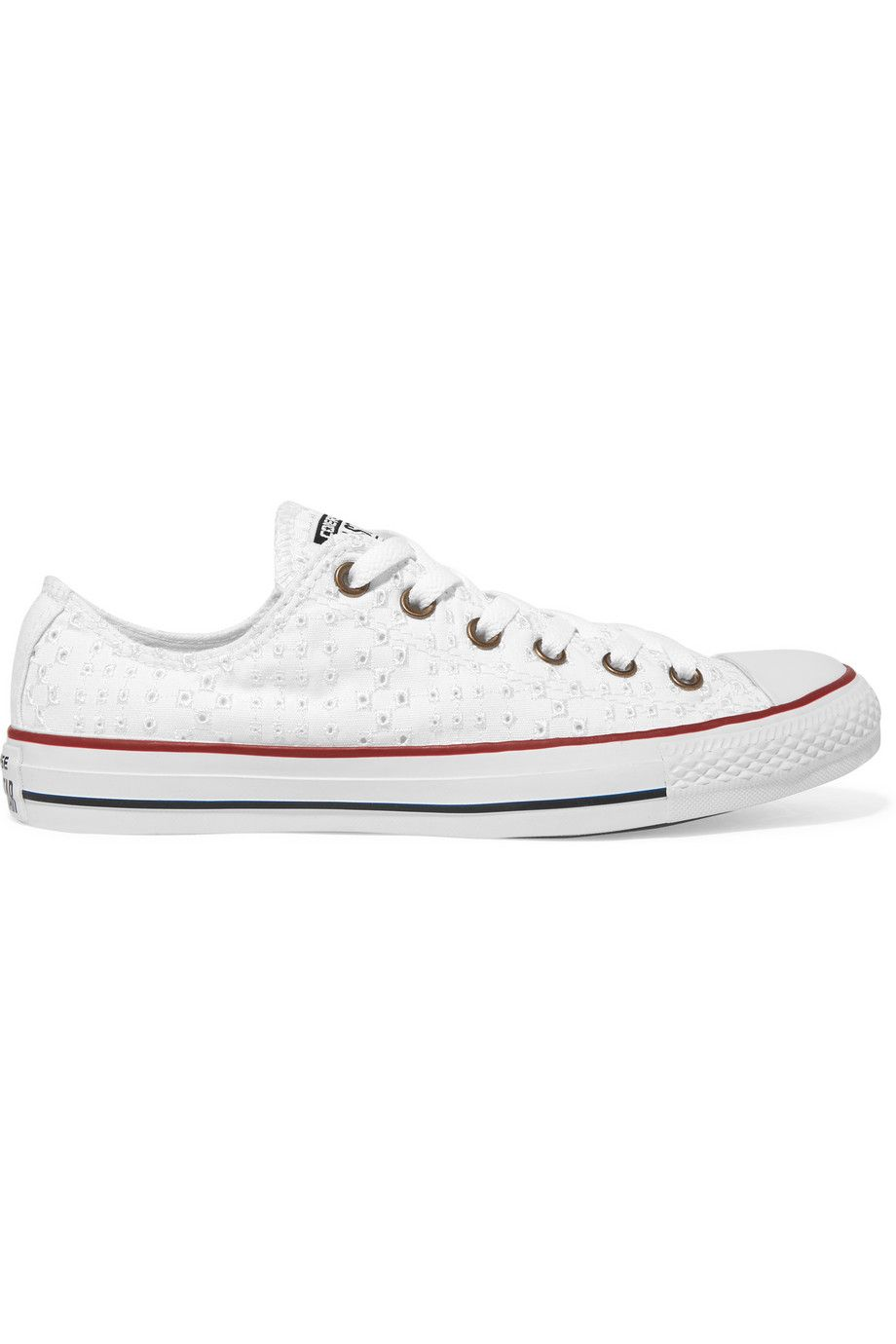 converse femme broderie anglaise