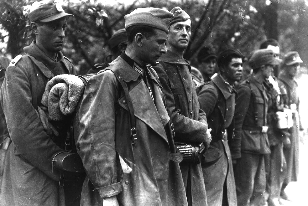 Twelve french soldiers of the 33rd waffen grenadier - French div 2 ...