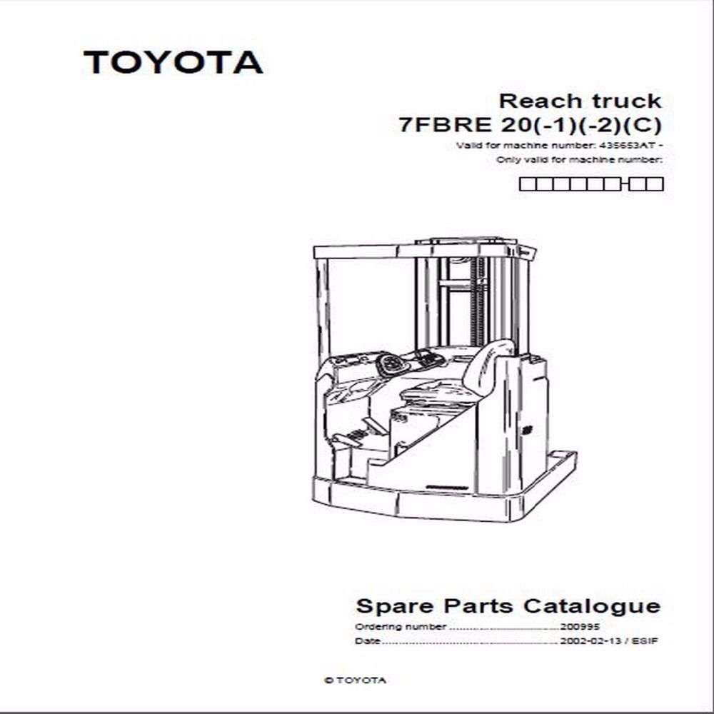 Bt Forklifts Master Service Manual For Toyota Repair Manuals Forklift Repair