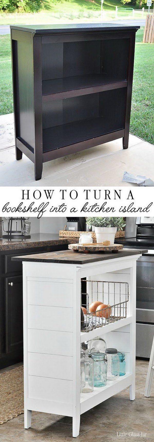 diy bookshelf kitchen island. | furniture make-overs | pinterest