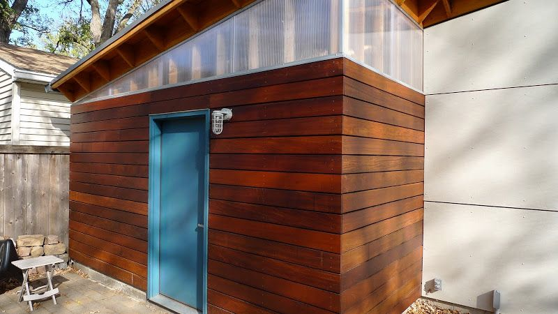 Garage build Modern Shed Roof Rain Screen Siding Page 9