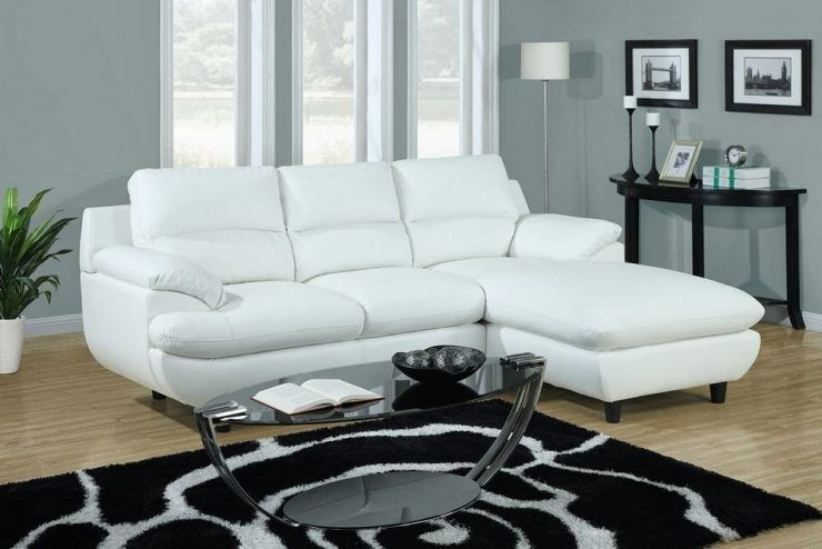 cool small sectional sofa with chaise white and table