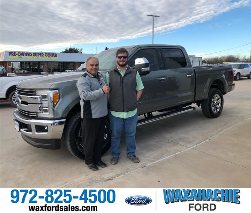 to Sam and your 2019 Duty F-250 SRW from Johnie Thomas at Waxahachie Ford!