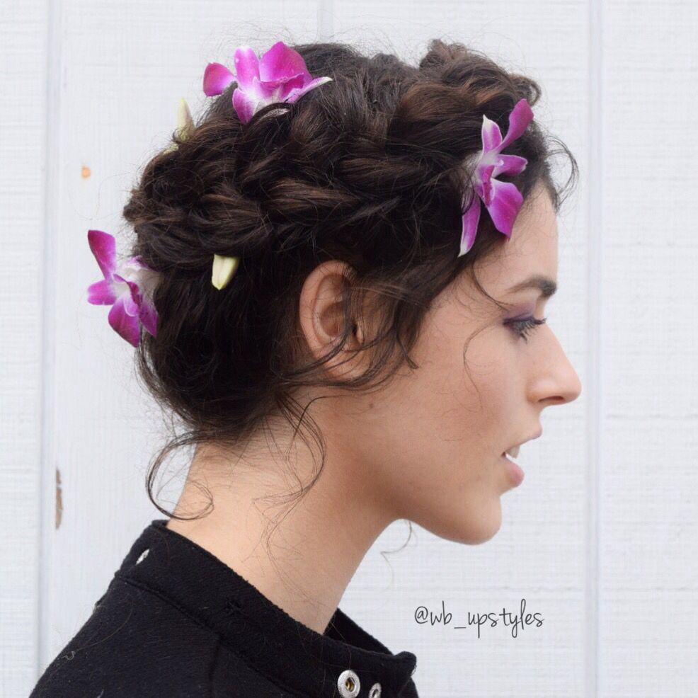 beautiful bridal hair. crown braid