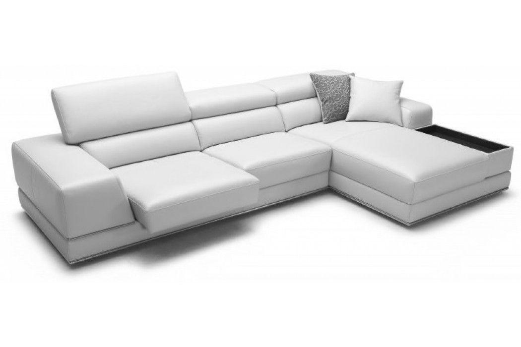 Incredible Bergamo Sectional Leather Modern Sofa Grey From Modani 2900 Evergreenethics Interior Chair Design Evergreenethicsorg