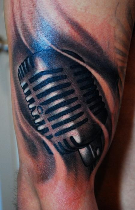 old school microphone tattoo design images pictures becuo rh pinterest ca vintage microphone tattoo old style microphone tattoo