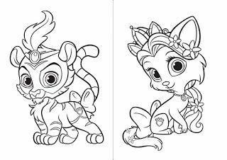 BAUZINHO DA WEB - BAÚ DA WEB : Palace Pets Livro de colorir para imprimir desenhos!
