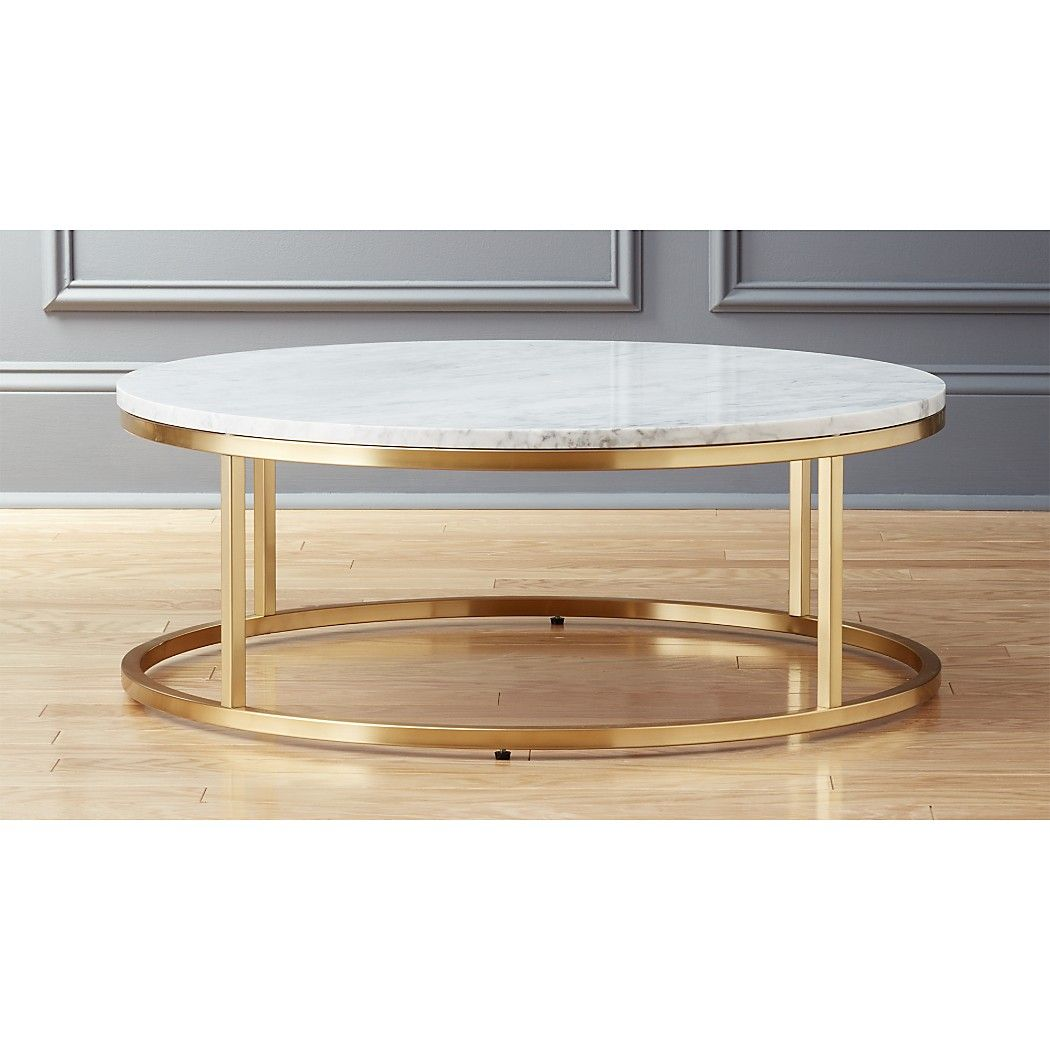 Smart Round Marble Brass Coffee Table Reviews Cb2 In 2021 Coffee Table Brass Coffee Table Table [ 1050 x 1050 Pixel ]