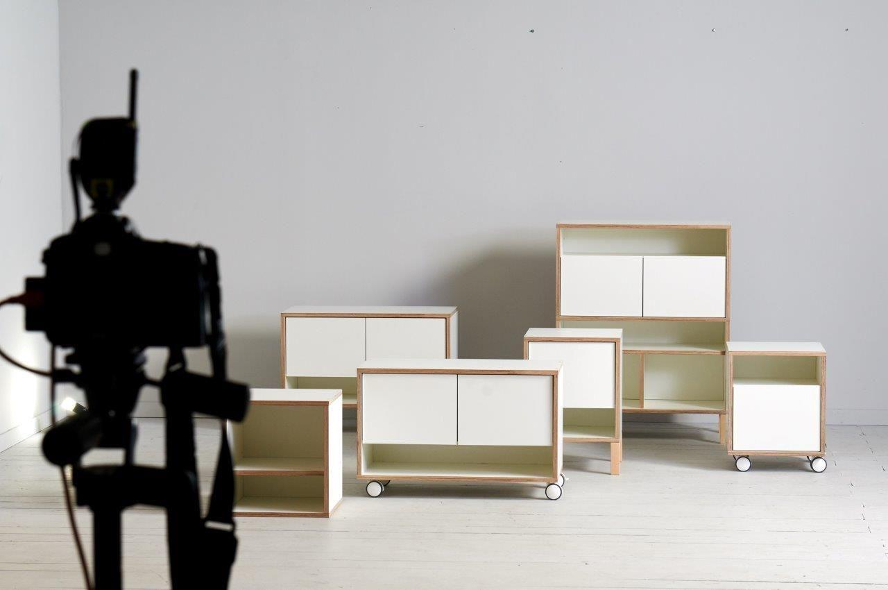רהיטים בהרכבה עצמית יראון רהיטים כחול לבן Modular Furniture