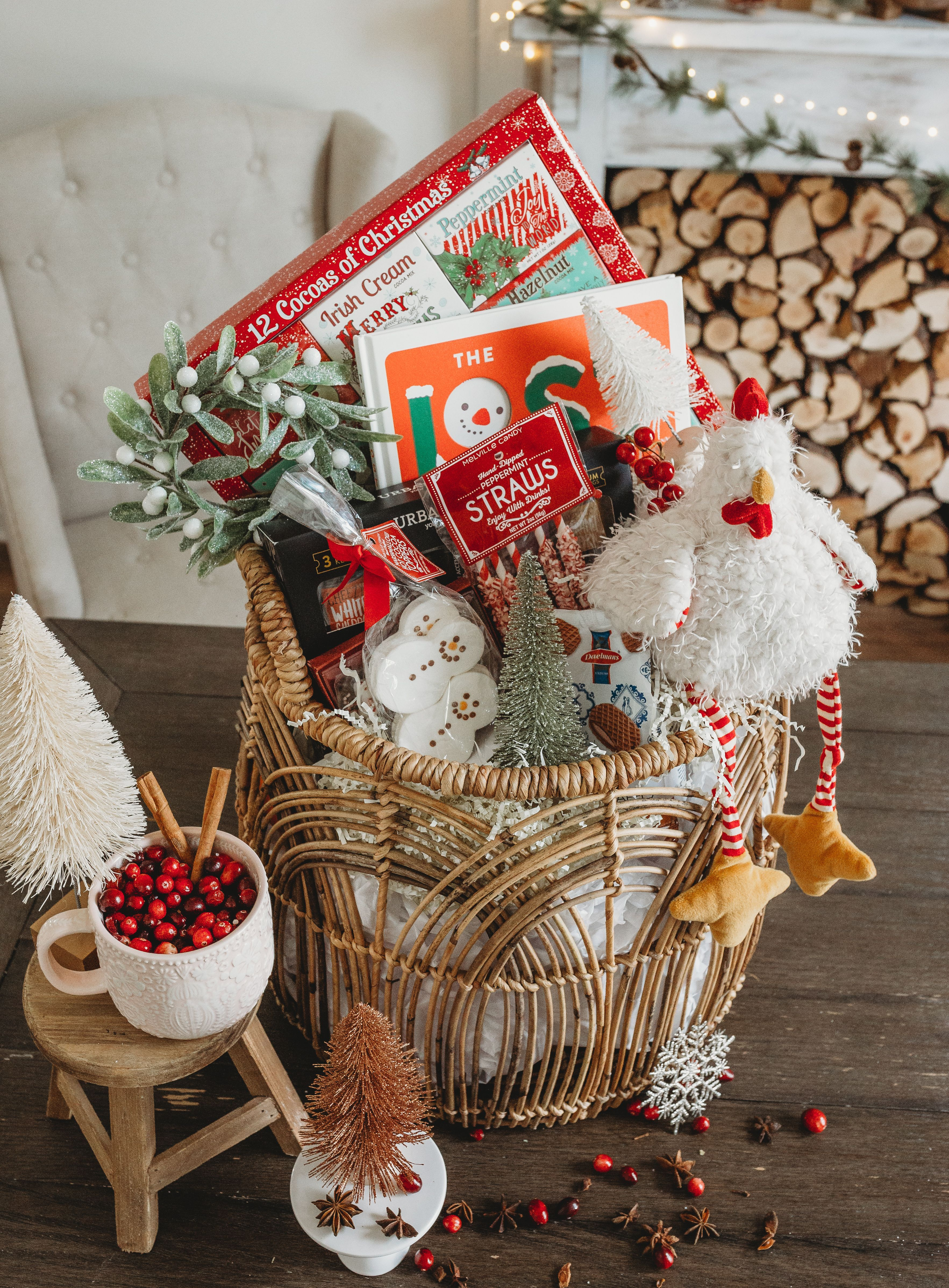 You don't need to use a box for your gifts! Pick up one of our basket kits and a roll of holiday ...
