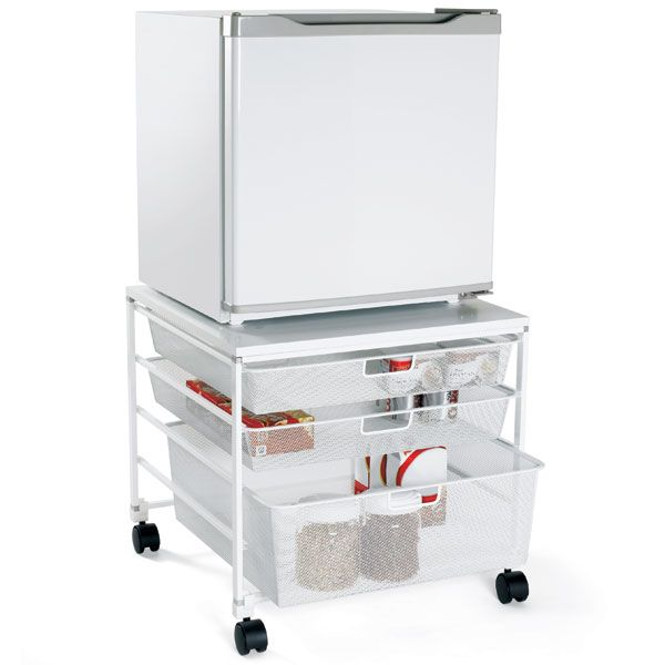 The Elfa Compact Fridge Cart Is Great To Store Non Refrigerated Grocery  Items Like The Ever Essential College Staple: Coffee!