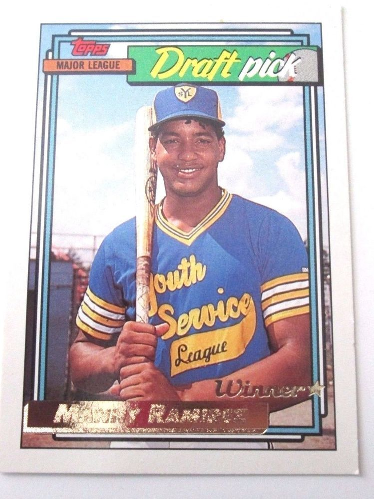 Manny Ramirez 1992 Topps Draft Pick Card 156 (Near Mint