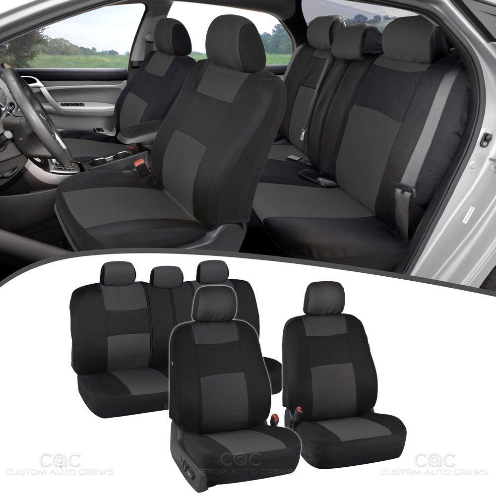 Nice great car seat covers sports design poly pro seat protection w split bench charcoal
