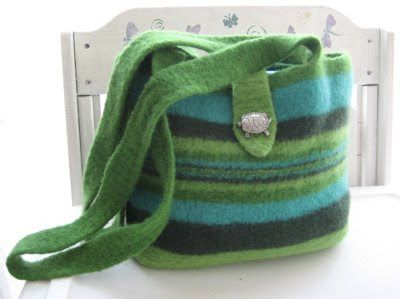 Friendsheep Free Patterns Felted Knitting Bag Tote Handbag Knitted