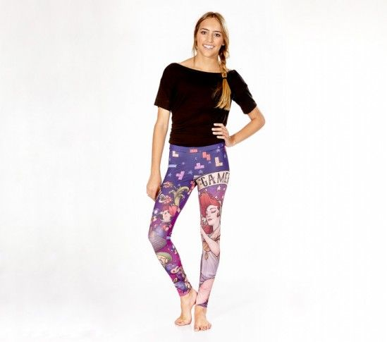 The Gamer Nouveau leggings are made of high quality polyester and spandex for the best style and comfort. Bring out your inner gaming goddess in these gorgeous leggings!  About These Leggings:- Made in the USA- Model is wearing size Medium- Height - 5'5"