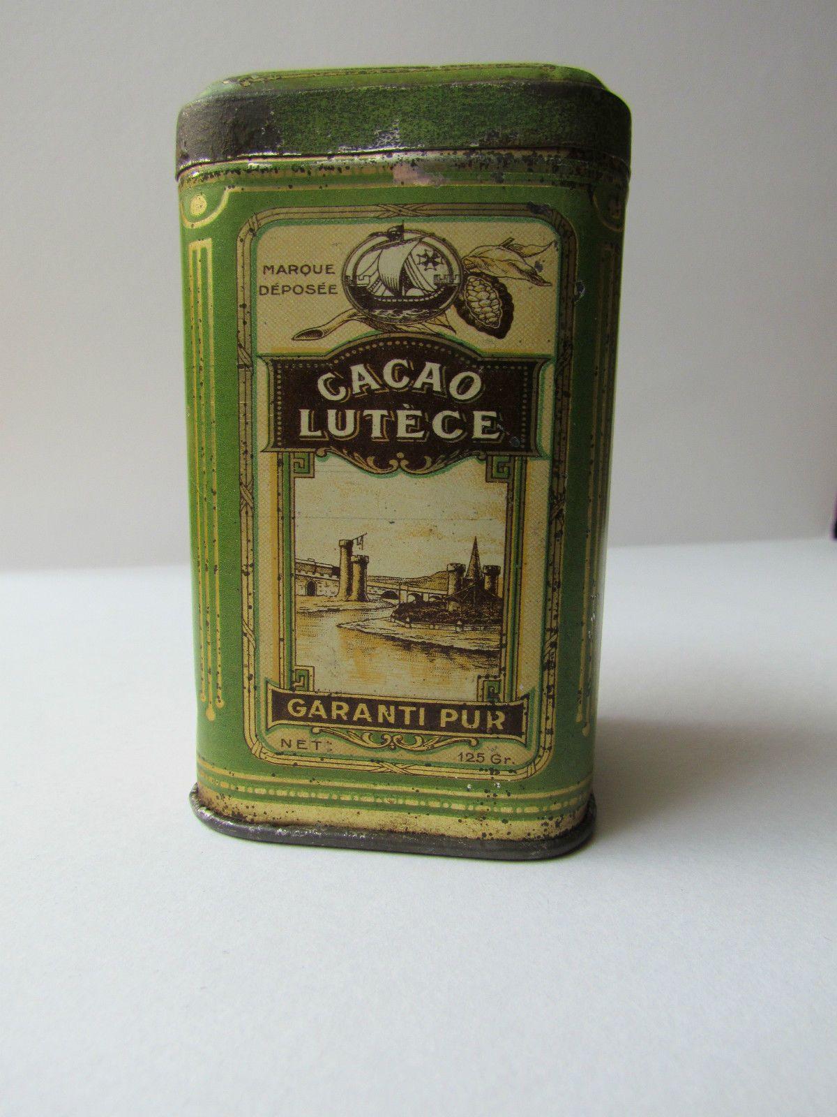 Boite EN FER Cacao Chocolat Lutèce | eBay