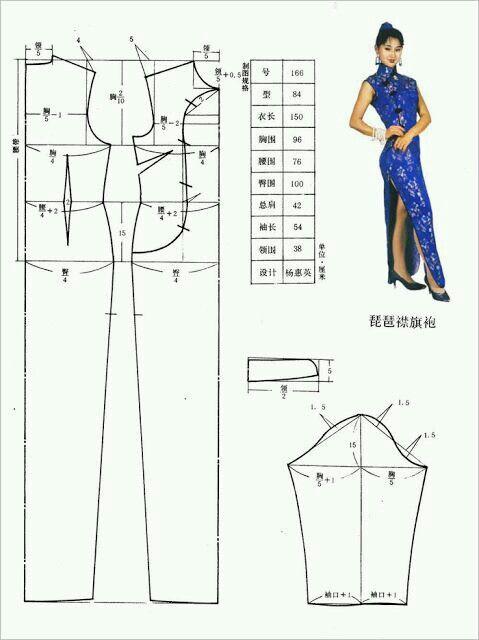 7ea277270 Chinese dress pattern   Chinese Dress pattern   Sewing patterns ...
