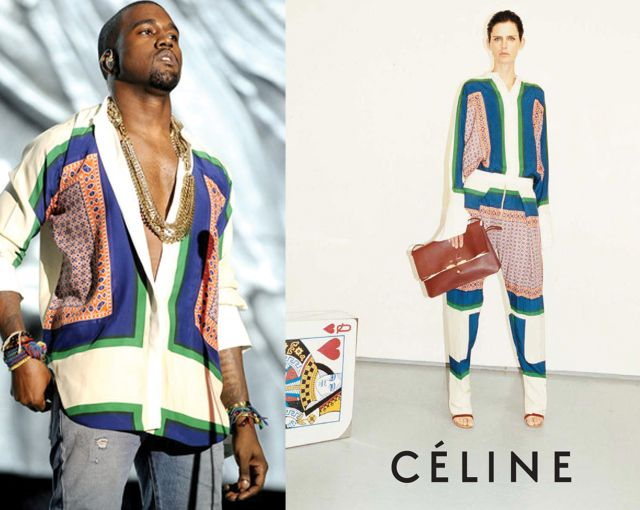 Kanye The Fashion Warrior #Kanye #Celine